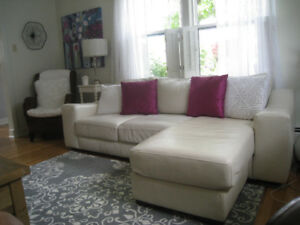 leather sofa white
