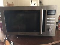 Stainless steel morphy richards microwave an grill