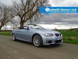 2011/11 BMW 3 SERIES 3.0 330D M SPORT 2DR CONVERTIBLE BLUE + LOW MILEAGE +