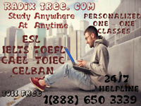 Online CELBAN-TOEFL-IELTS-CELPIP Tutoring Available Now At Home.