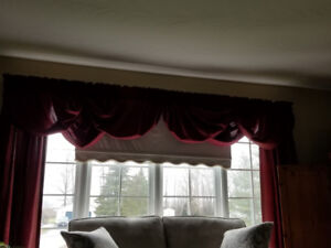Drapes and Valance set with pull down shade