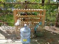 Wine rack and carbouys