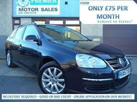 2008 VOLKSWAGEN GOLF ESTATE 1.9 TDI 106 DPF SE, ONLY 1 OWNER FROM NEW!