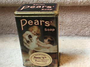 Vintage Pears Soap Tin Bath Time Puppy Dog Boy Girl