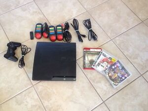 Sony PlayStation 3 Slim 120GB black with games and controller