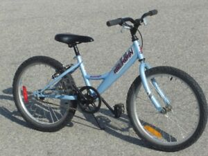 """BARELY USED GIRLS 20"""" RALEIGH BIG HORN FIRST $75.00 TAKES IT!"""