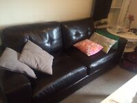 2 and 3 seater leather look sofas