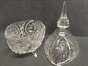 Collectible Antique Crystal Pinwheel Covered Candy Dish London Ontario image 4