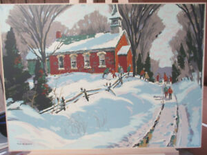 "Sampson Matthews Silkscreen ""Red School House"" by Tom Roberts!"