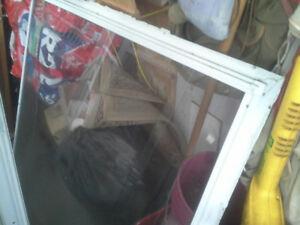 windows and screen door white aluminum