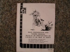 Race Prepartion and Tuning Manual for 1983 Yamaha Dirt Bikes