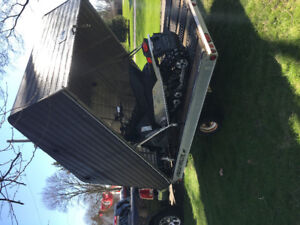 Snowmobile and Trailer for sale