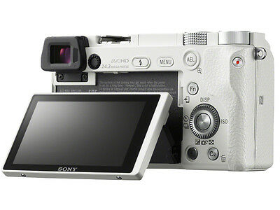 Sony Alpha a6000 Mirrorless Digital Camera Body (White)