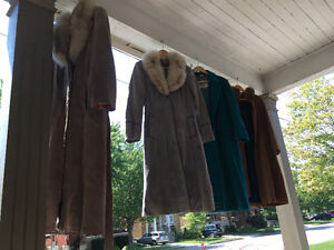 Vintage Leather & Coyote Fur Coats