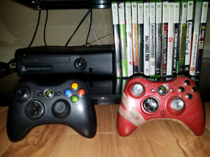 XBOX 360 4G + Kinect + 2 Controllers + 10 Games $150