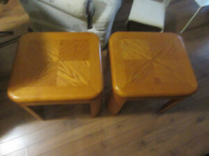 2 solid end table
