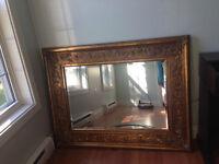 Beautiful large beveled mirror