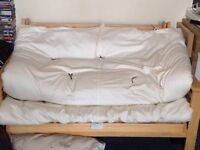 Sofa bed and duvet