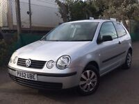 Volkswagen Polo 1.2 S 2002 + FULL SERVICE HISTORY + MOT TILL MAY 2017 + SUPERB DRIVE