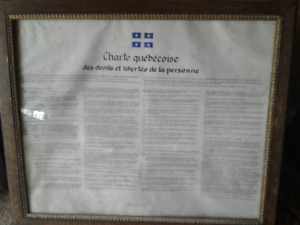 Chartes québécoises des droits et liberté.