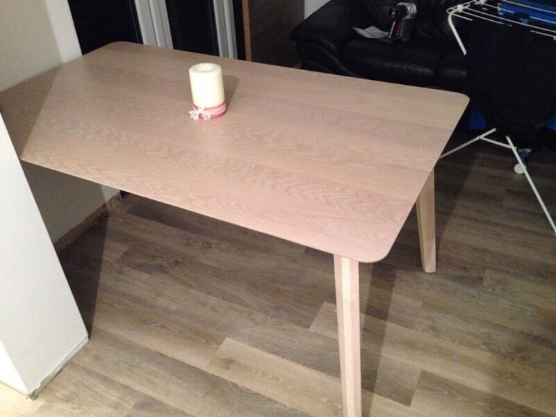 Ferndale Limed Oak Effect Dining Table From Homebase 1 Month Old