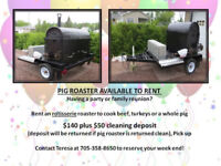 PIG ROASTER AVAILABLE TO RENT