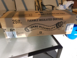 """6"""" insulated flexible ducting for indoor ventilation"""