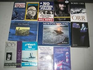 For Sale 9 Newfoundland Books + 3 Muisc Biographies