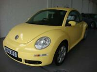 Volkswagen Beetle 1.4 Luna 2006 Sunflower Yellow, Only 63000 Miles FSH 1 Owner