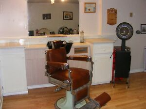 Barber Chair and Salon work station