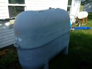 Fibreglass Oil Tank (5 Years Old) for Sale including Chimney
