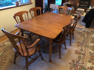 Vilas Dining Room table and six tables
