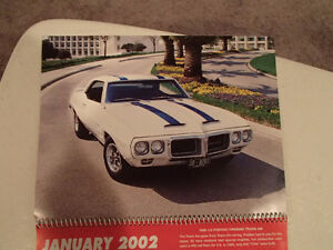 New 2002 GEAT AMERICAN CARS 12 Month CALENDAR. Issued by AKZO NO Sarnia Sarnia Area image 2