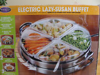 Lazy Susan Electric big buffet with stone