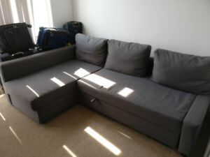 IKEA Dining Table, Couch Sofabed, Chairs, Desk, Storage