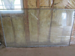 Large glass window pane