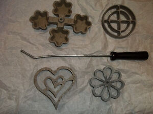 Cast iron Rosette molds (5pcs)