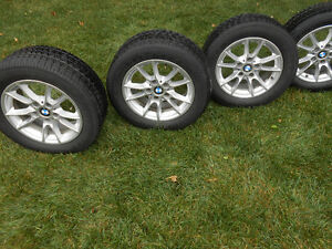 4 Original (OEM) BMW 5 series rims with all season tires