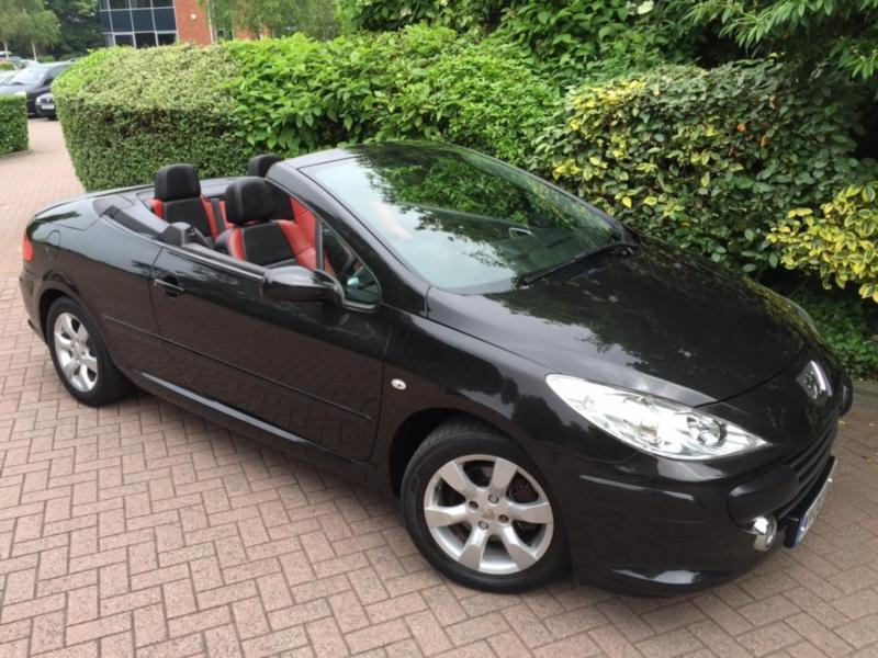 2008 peugeot 307 cc 1 6 16v convertible allure 1 owner only 35k miles black in. Black Bedroom Furniture Sets. Home Design Ideas