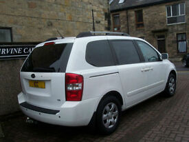 09 59 REG KIA SEDONA 2.9 CRDI DIESEL 5DR WHITE 7 SEATER 1 LADY OWNER LOW MILEAGE