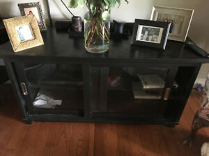 Black TV stand and storage unit