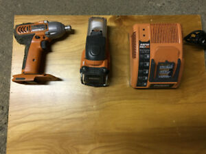 ridgid compact driver charger and ligth