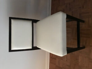 Two (2) Bar Stools - White and Wood