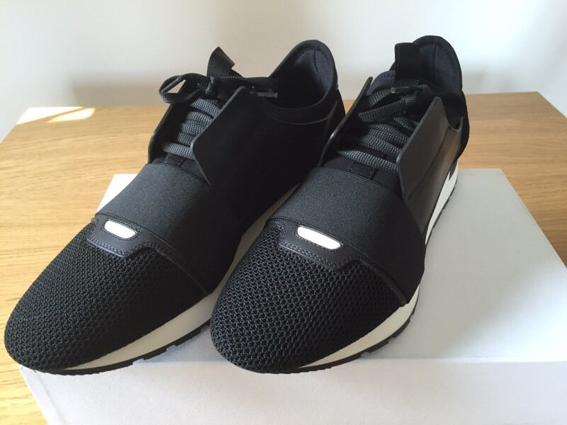Balenciaga Race Runners Black Size 8 Uk Brand New In