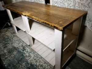4ft console table with reclaimed wood top