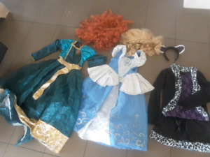 Costumes d'halloween, Merida, Cendrillon et Monster high