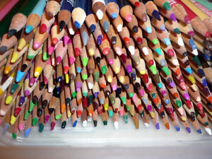358 Colored Pencils .. As shown .. Tote included .. Cambridge Kitchener Area image 1