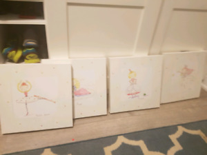 Girls ballet fairy pictures all 4 for $20
