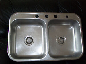 Double Stainless Sink Kitchener / Waterloo Kitchener Area image 1