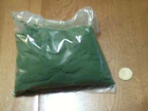 HO scale ground foam for electric model trains - large bag